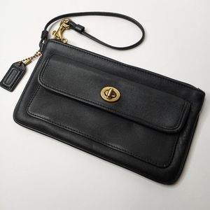 Coach Vintage Leather Legacy Wristlet